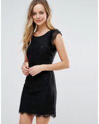 Liquorish - Lace Mini Dress With Scalloped Hem - Lyst