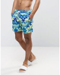 Another Influence | Palm Tree Print Swim Shorts | Lyst