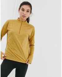 Nike - Half Zip Pacer Top In Gold - Lyst