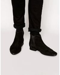 Frank Wright - Suede Chelsea Boots - Lyst