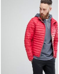 HUNTER - Padded Mid Layer Jacket In Red - Lyst