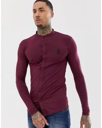 f41f4396 Gym King - Muscle Fit Grandad Shirt In Jersey - Lyst