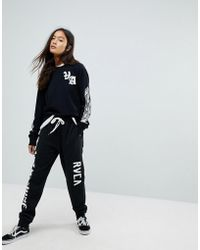 RVCA - X Toy Machine Relaxed Joggers With Leg Print - Lyst