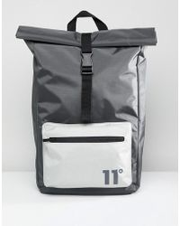 11 Degrees - Backpack In Grey With Rolltop - Lyst