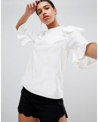 AX Paris - Short Sleeve Blouse - Lyst