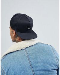 Huf - Box Logo Snapback Cap In Black - Lyst