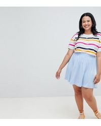 ASOS - Asos Design Curve Mini Skater Skirt In Marl - Lyst