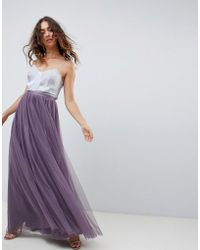 Needle & Thread - Tulle Maxi Skirt In Purple - Lyst