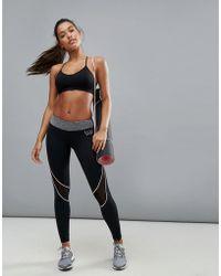 ELLE Sport - Multi Mesh Panel Sports Legging - Lyst