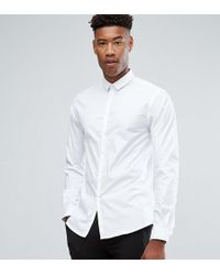 Noak - Tall Skinny Shirt With Bluff Collar - Lyst