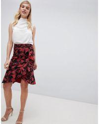 Oasis - Havana Printed Pencil Skirt - Lyst