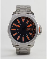 BOSS Orange - By Hugo Boss New York Watch With Stainless Steel Strap - Lyst