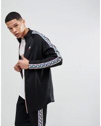 Nike - Track Jacket With Taped Side Stripe In Black Aj2681-010 - Lyst
