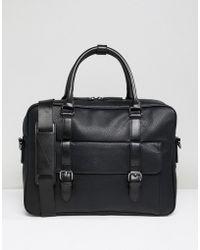 Dune - Noah Laptop Messenger Bag In Black - Lyst
