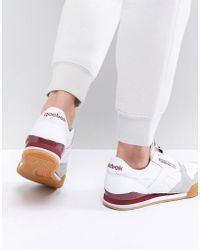 Reebok - Classic Phase 1 Pro Trainers In White And Red - Lyst