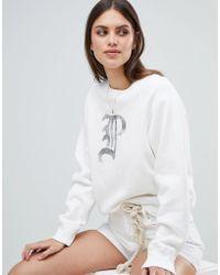 Polo Ralph Lauren - Sweatshirt With Metallic Script Logo - Lyst
