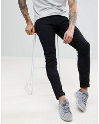Farah - Drake Twill Slim Fit Jeans In Black - Lyst