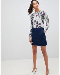 Oasis - Seam Detail A-line Mini Denim Skirt - Lyst