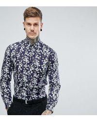 Heart & Dagger - Skinny Floral Shirt - Lyst