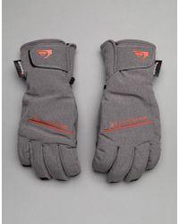 Quiksilver - Freefall Ski Gloves In Grey - Lyst