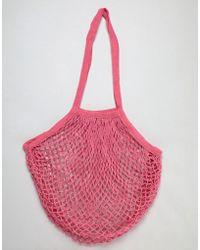 Bershka - Net Carry Bag In Pink - Lyst