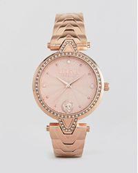 Versus - V Crystal Vspci3717 Bracelet Watch In Rose Gold 34mm - Lyst
