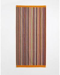 Paul Smith - Telo classico a righe multicolore - Lyst
