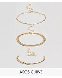 ASOS - Exclusive Pack Of 3 Vintage Style Chain Bracelets - Lyst