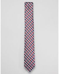 Ben Sherman - Silk House Checked Tie - Lyst