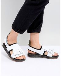 Dr. Martens - Rosalind Leather Flat Sandal With Tassel Detail - Lyst