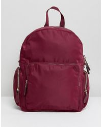 Monki - Zip Pocket Backpack - Lyst