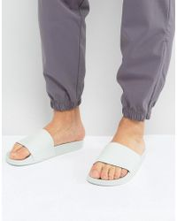 adidas Originals - Adilette Slides In Green Ba7540 - Lyst