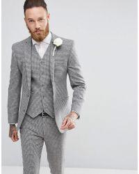 ASOS - Veste de costume super slim motif pied-de-poule - Lyst