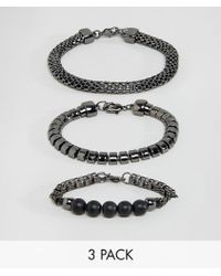 ALDO | Textured Bracelets In 3 Pack | Lyst
