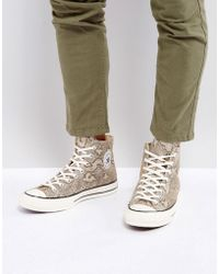 Converse - Chuck Taylor All Star '70 Snake Pack Hi Plimsolls In Brown 158856c - Lyst