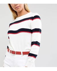 Retro Luxe London - Extra Long Red Leather Belt - Lyst