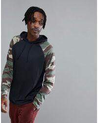 Oakley | Lakeside Long Sleeve Top Hooded Camo Sleeves In Black | Lyst