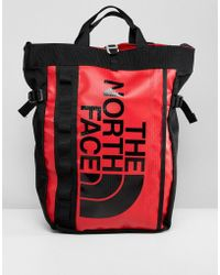 The North Face - Base Camp Tote Bag In Red - Lyst