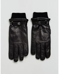 PS by Paul Smith - Goat Leather Made In Italy Gloves In Black - Lyst