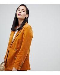 Monki - Cord Tailored Blazer Co-ord - Lyst