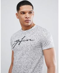 Good For Nothing - Muscle Speckle Logo T-shirt In White - Lyst