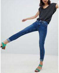 Pieces - Five High Waisted Skinny Jeans - Lyst