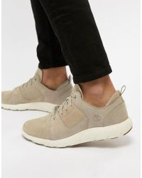 Timberland - Flyroam Suede Trainers In Stone - Lyst