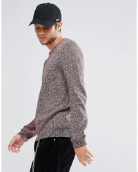 ASOS - Midweight Jumper In Rust - Lyst