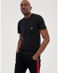 Love Moschino - Schwarzes T-Shirt mit Logo - Lyst