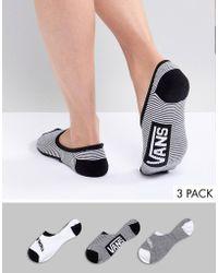 Vans - 3pk Monochrome Socks - Lyst