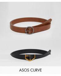 ASOS - Lot de 2 ceintures pour taille et hanches avec boucle circulaire et  hexagonale - 36745b03b5c