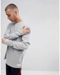 FairPlay - Oversized Layered Long Sleeve T-shirt In Grey - Lyst