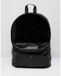 ASOS | Backpack In Vinyl Faux Leather | Lyst