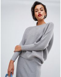 Mango - Knitted Ribbed Sweater Two-piece - Lyst